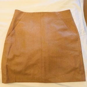 Loft Tan Camel Pencil Skirt with Pockets